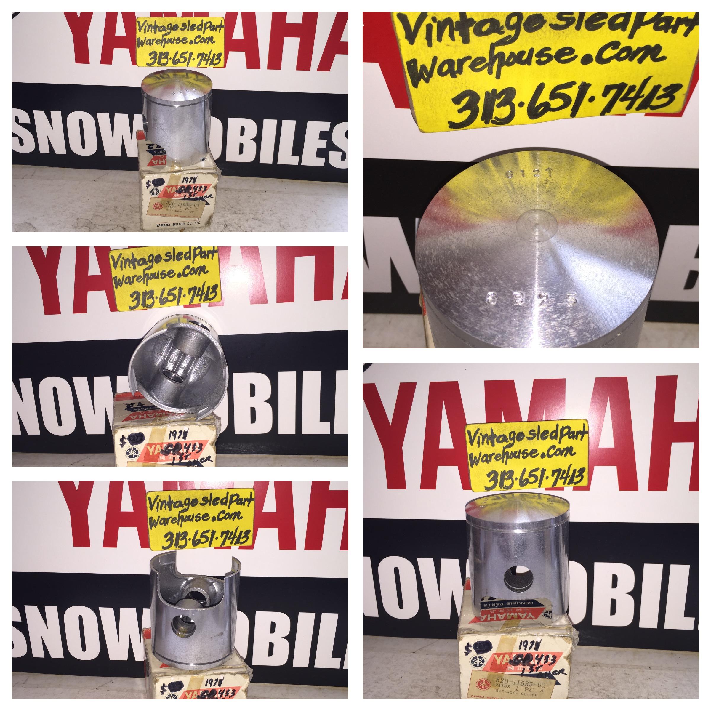 VINTAGE YAMAHA SR 433 PISTON 820-11635-002 GPX GP SNOWMOBILE