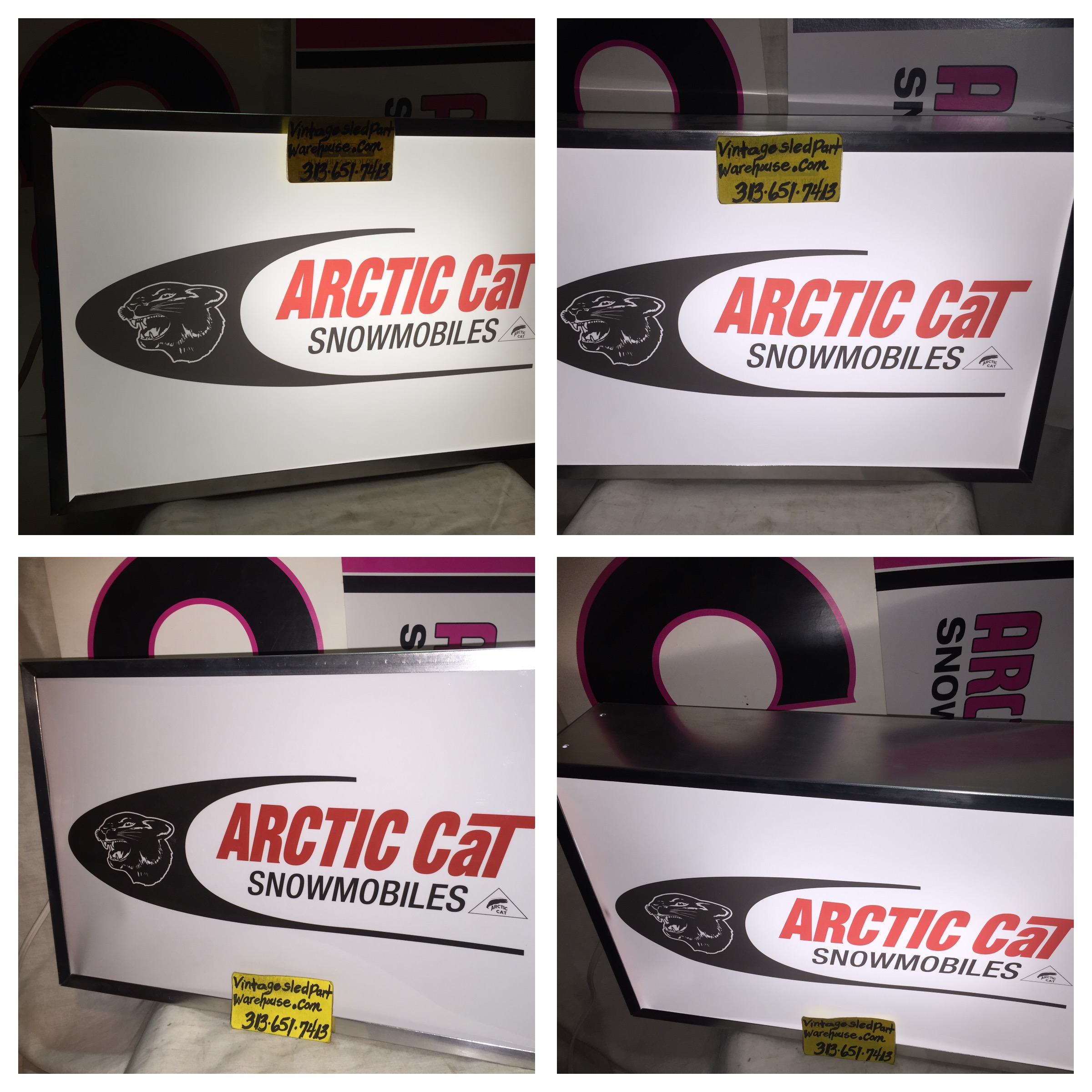 VINTAGE ARCTIC CAT DEALER PANTHER LIGHTED SIGN VINTAGE ARCTO POLAR ...