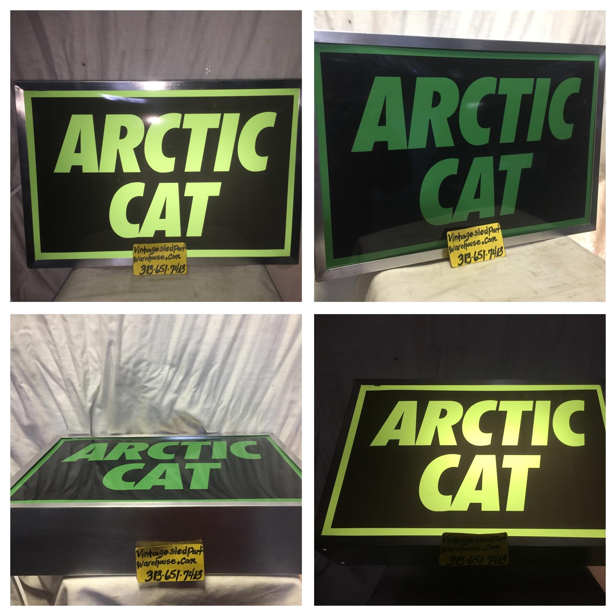 Vintage arctic cat dealer sign ARCTIC CAT kawaski spirit Suzuki ...