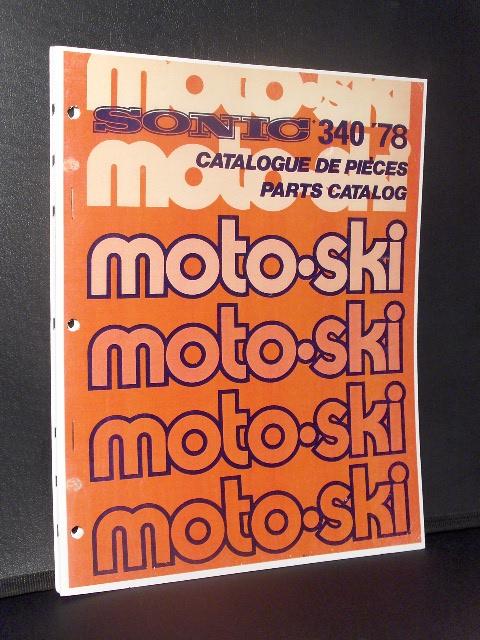 moto-ski sonic sled parts manual 1978 rotax engine