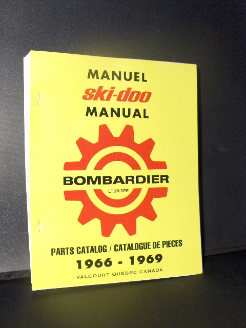 SKIDOO ROTAX BOMBARDIER PARTS MANUAL 1966- 1969 SNOWMOBILE