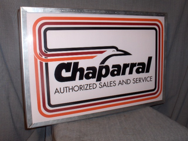 chaparral dealer lighted sign