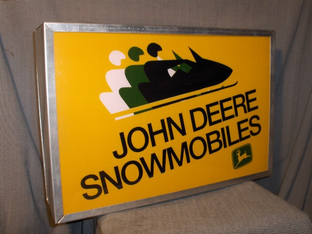 john deere dealer lighted sign