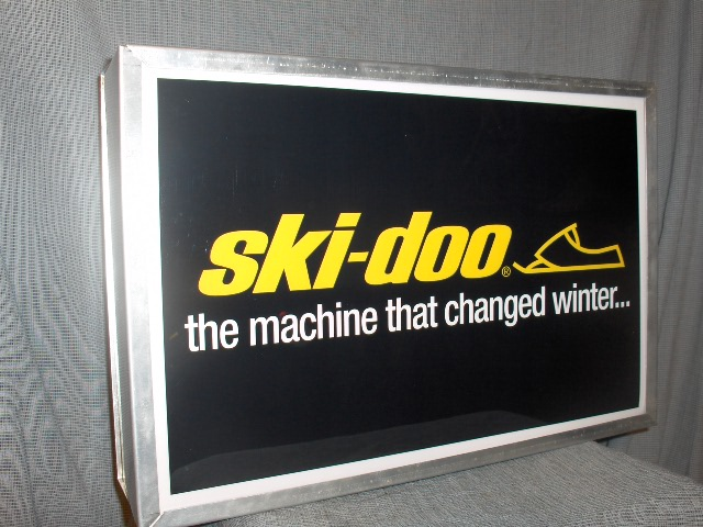 dealer sign ski doo the machine that changed winter